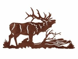 Elk Fighting Silhouette