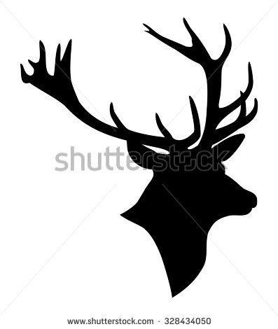 397x470 Deer Head Silhouette Satskin Deer Head Silhouette