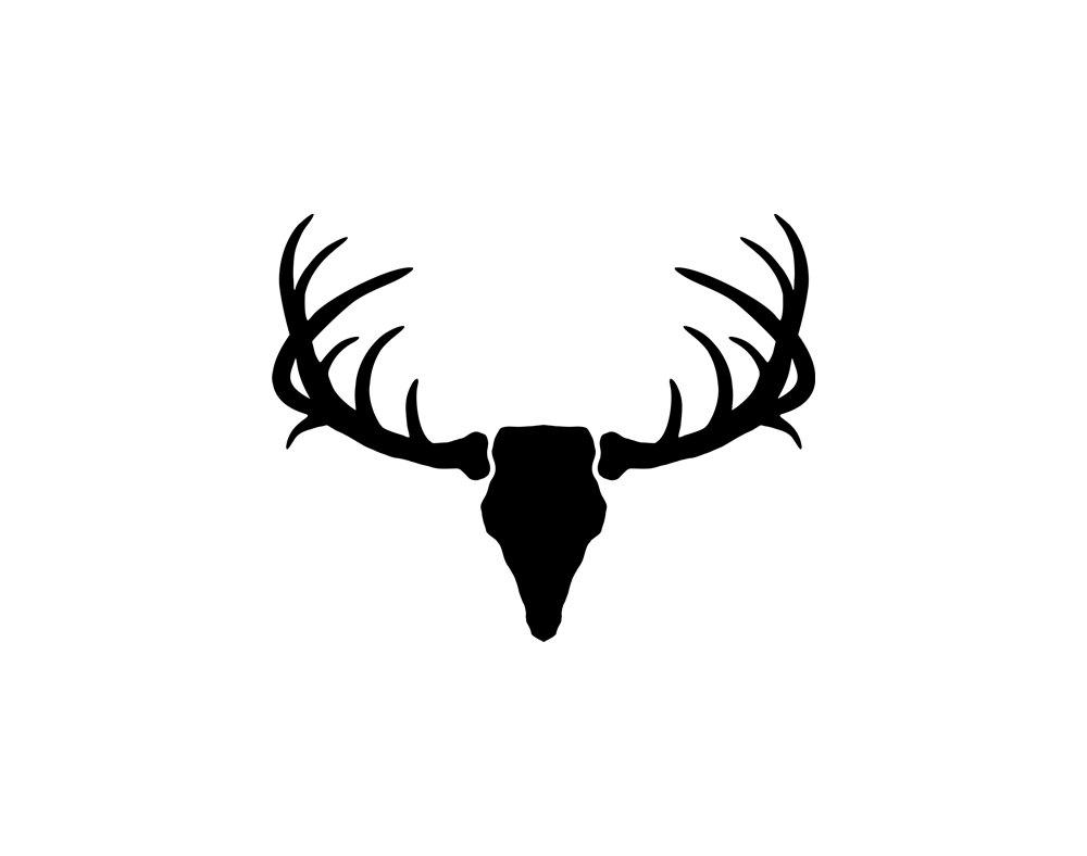 1000x788 Deer Antler Head Silhouette Clipart Svg Free