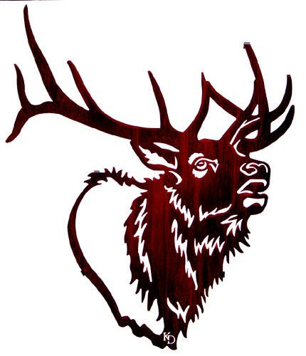 430x500 Elk Head Clip Art Elk Head Drawing Pictures For Pta