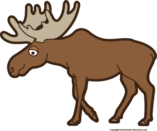 540x450 Moose Clipart Free