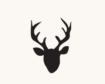 340x270 SVG and DXF File Deer Deer Head Antlers Tribal