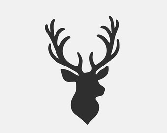340x270 deer head monogram frame svg dxf file instant download silhouette
