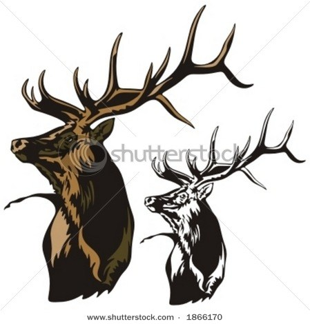 449x470 Deer Head Black And White Clipart