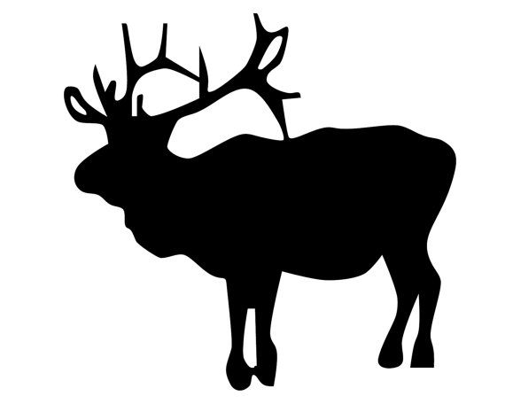 570x456 Elk Hunting Vinyl Sticker Elk Hunter Decal Elk Silhouette