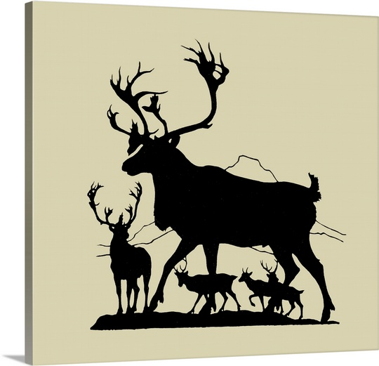 540x521 Elk Silhouette Iv Wall Art, Canvas Prints, Framed Prints, Wall