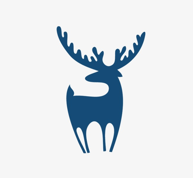 650x599 Blue Green Silhouette Elk, Blue Green, Elk, Sketch Png Image