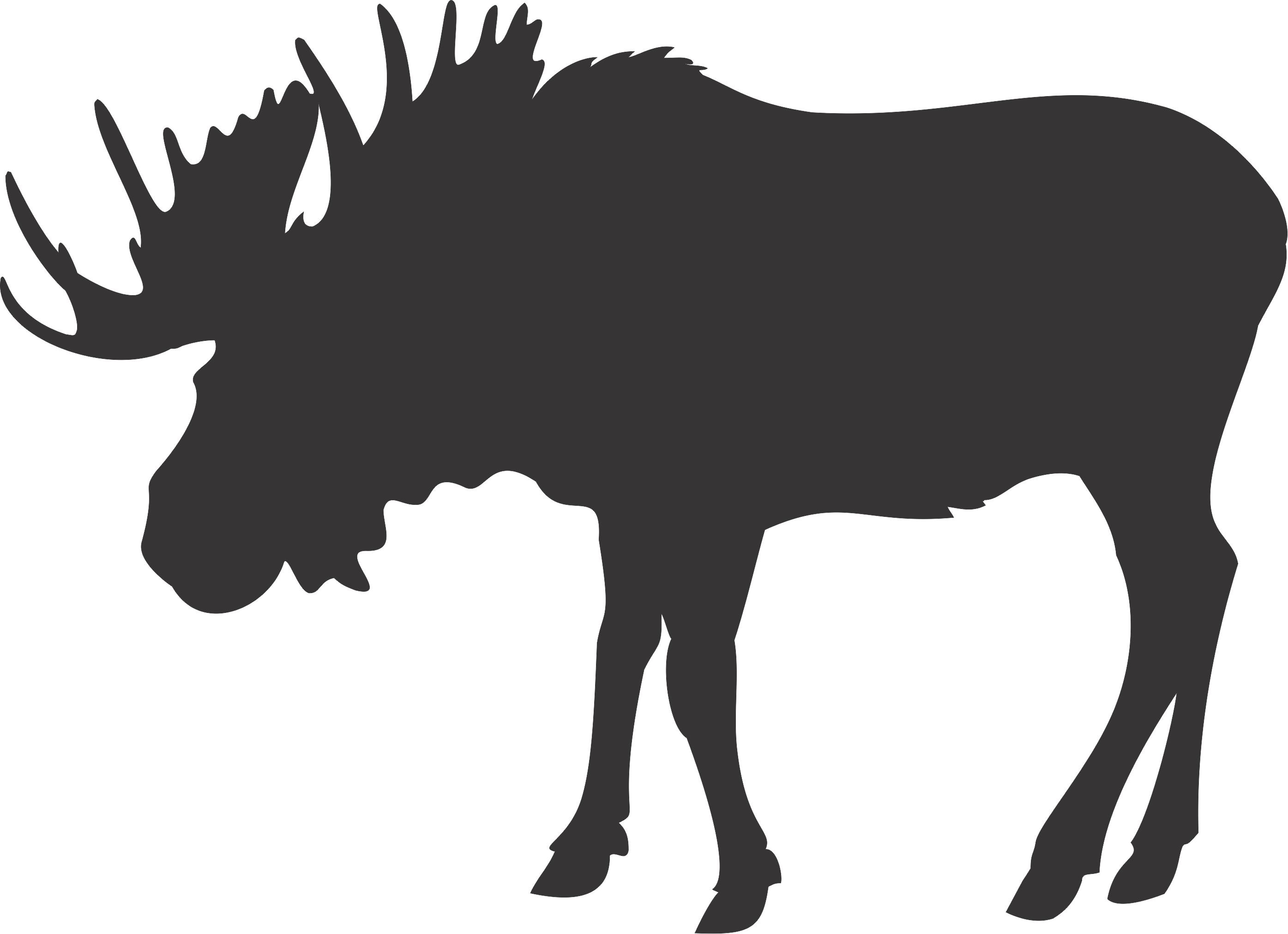 2790x2022 Elk Clipart Fighting