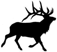 236x217 Elk head outline