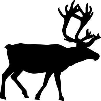 350x350 Animal Silhouette,reindeer Vector Zoo Arculatok