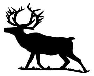 320x257 Elk Silhouette 2 Decal Sticker