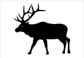 331x231 Elk Silhouette Clip Art Elk Clipart Panda