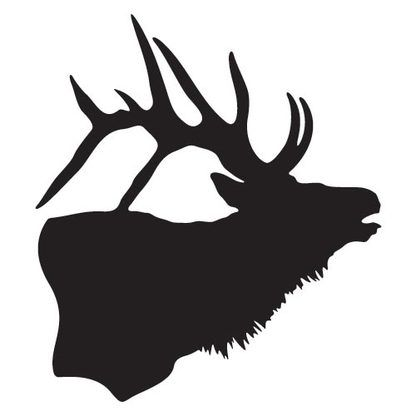 416x416 Elk Silhouette Decal Elk, Silhouette And Stenciling