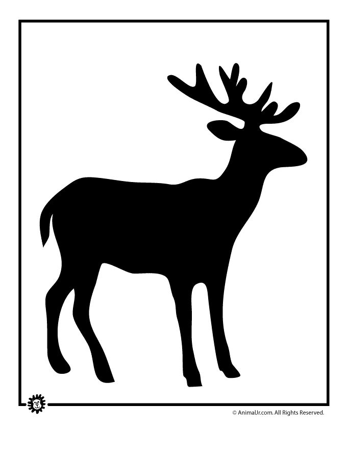 Elk Silhouette Patterns