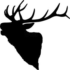 236x234 Elk Head Outline