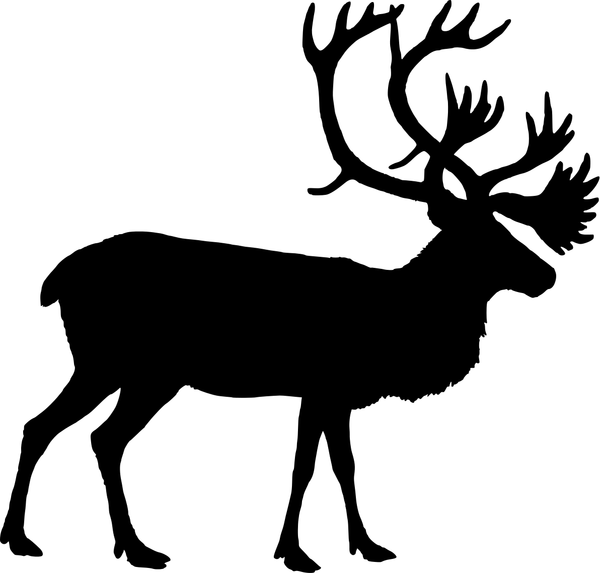 1192x1138 Best Photos Of Reindeer Head Silhouette