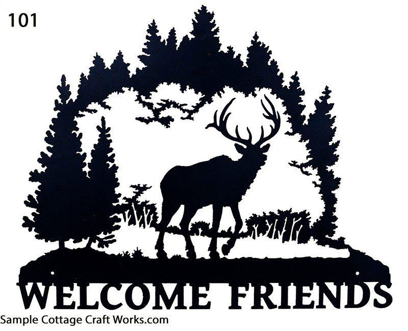 800x648 Welcome Sign Silhouettes