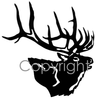389x400 Buglin' Elk Head Decal