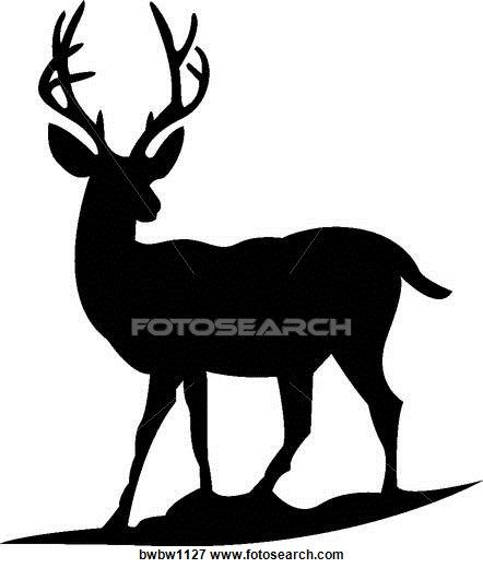 442x520 Clip Art Of Deer Silhouette Bwbw1127