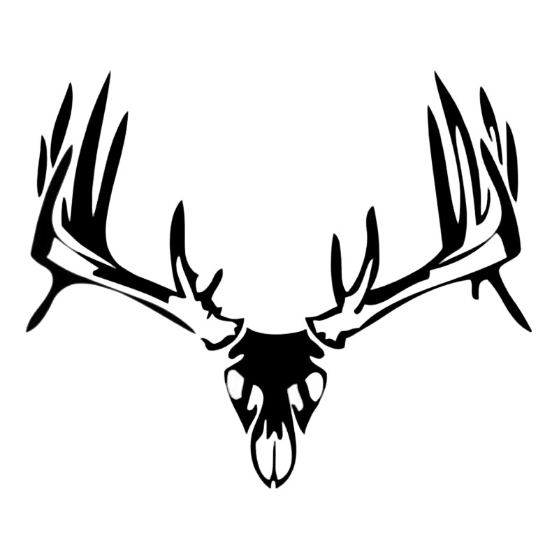 800x800 15.212.5cm Hunting Vinyl Car Styling Buck Skull Deer Antler