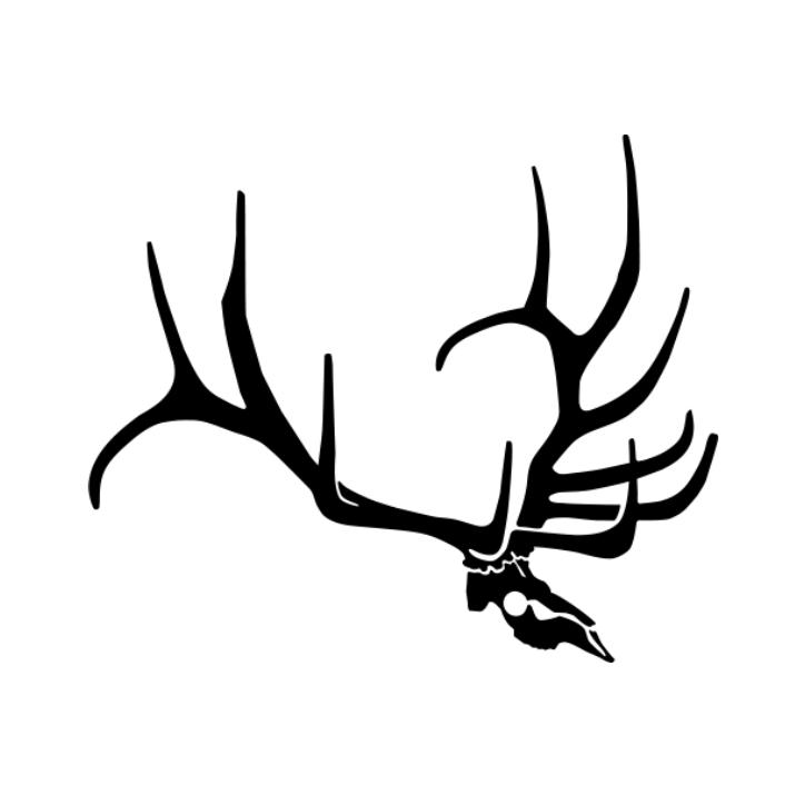715x715 Elk Skull Clip Art
