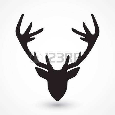 450x450 Free Deer Skull Silhouette Clipart