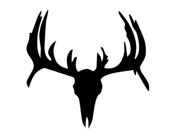 570x456 Hunting And Fishing Vinyl Decal Deer Hunter Head Or Skull