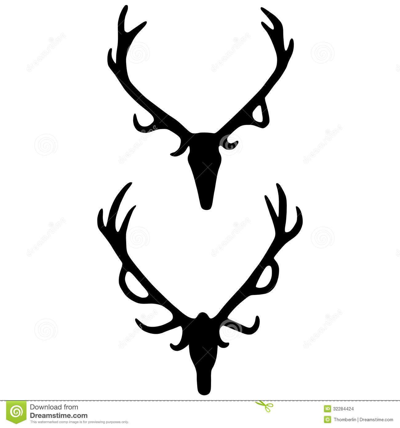 1300x1390 Elk Skull Silhouette