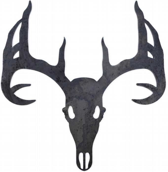 Drawn Elk Tribal 9 Elk Head Stencil