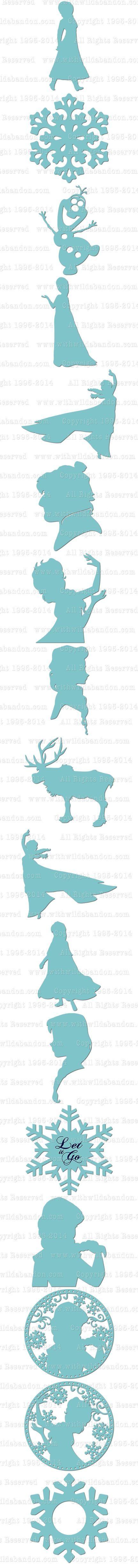 432x4909 Frozen Svg, Frozen Silhouettes, Anna Svg, Elsa Svg, Anna