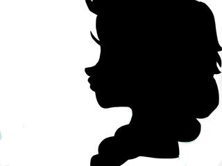 320x240 Just A Plain Silhouette Of Elsa. )