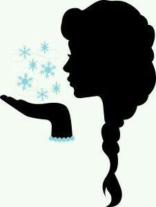 226x300 Pin By Migdalia Milian On Siluetas Elsa, Silhouettes