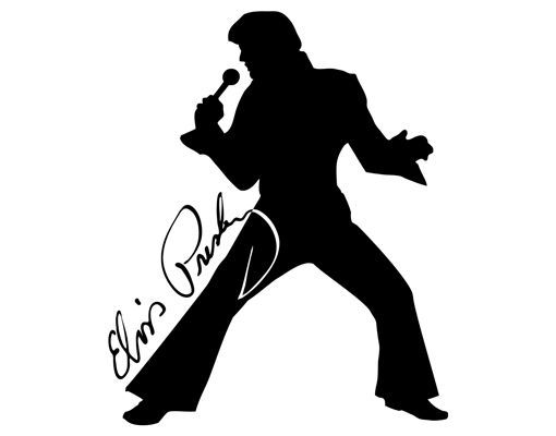 Elvis Face Silhouette