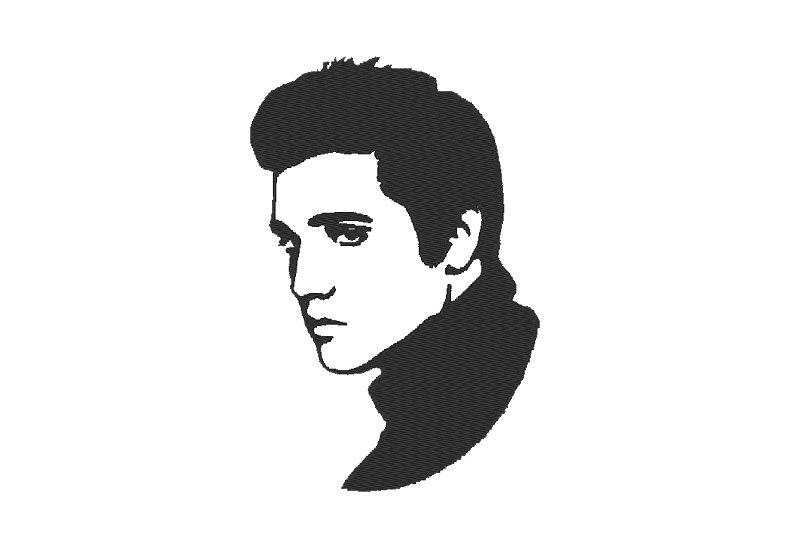 797x554 Elvis Presley Embroidery Design