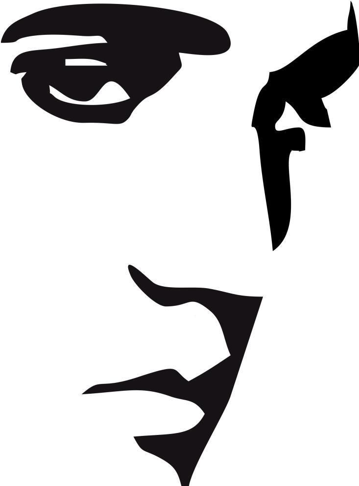 733x990 G201 Elvis Presley Face Removable Vinyl Decal Wall Sticker Various