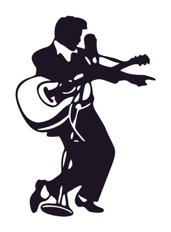 564x764 Presley Silhouette With Guitar
