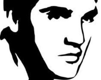 340x270 Elvis Plastic Canvas Patterns Large Elvis Presley Silhouette