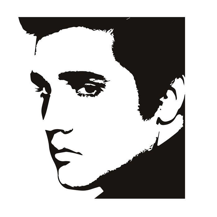 700x700 Elvis Presley Black And White Photo
