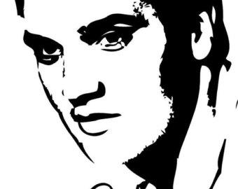 340x270 Cross Stitch Pattern Elvis Presley Face Silhouette