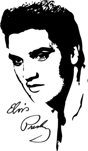 288x491 Elvis Presley Vinyl Wall Art Decal International Expressions