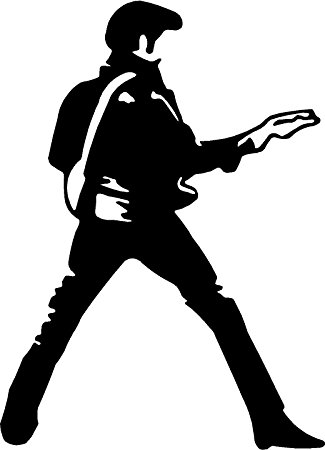325x450 Elvis Presley Guitar Dance
