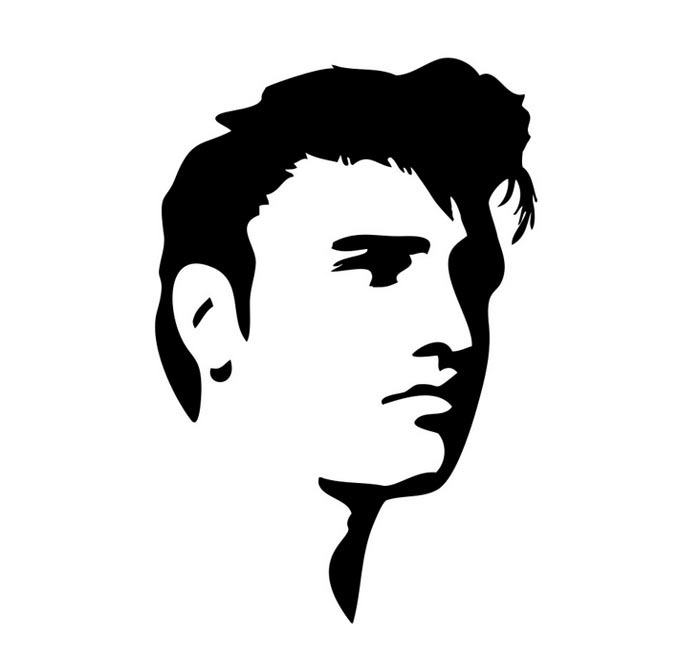 700x650 Elvis Wall Sticker Livraison Gratuite Elvis Presley Silhouette