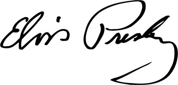 600x289 Elvis Presley Signature Free Vector In Encapsulated Postscript Eps