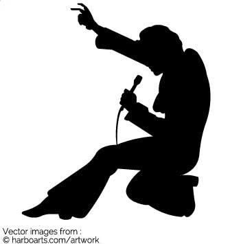 335x355 Download Elvis Singing Silhouette
