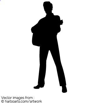 335x355 Download Elvis With Guitar Silhouette
