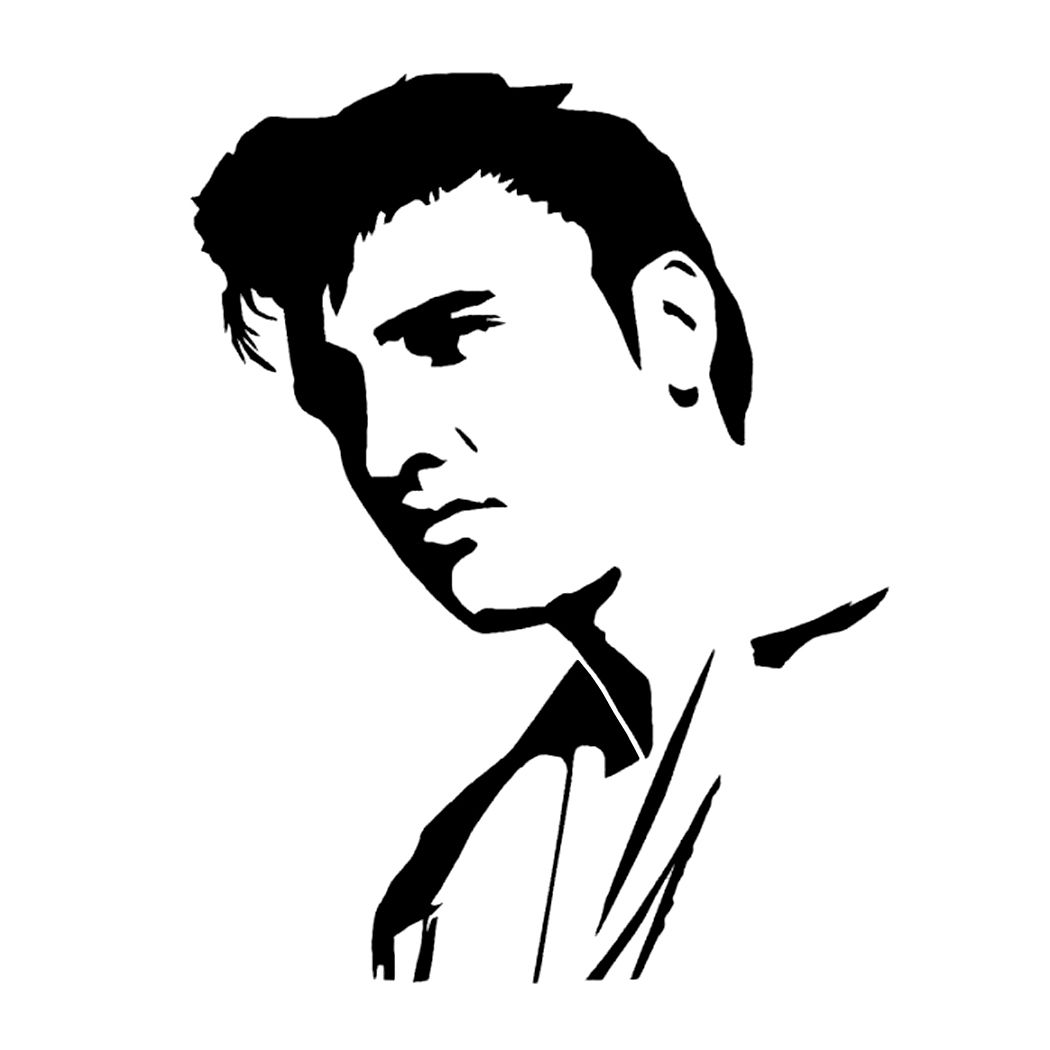 1050x1050 Elvis Presley Stencil Stencils Elvis Presley