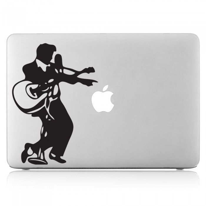 700x700 Presley With Guitar Laptop Macbook Vinyl Decal Sticker