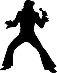 236x303 Fan Art Of Silhouette For Fans Of Elvis Presley. Clipart