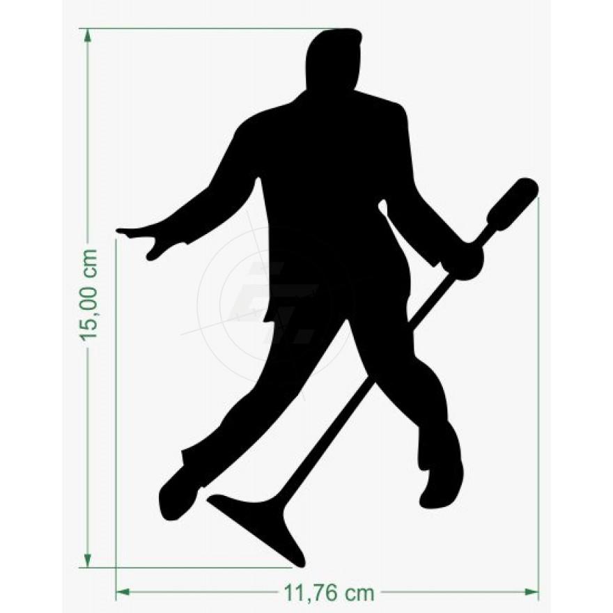 880x880 Sticker Elvis Presley, Silhouette, Schaufensteraufkleber Und