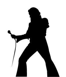 267x310 Elvis Silhouette Elvis Presley, Elvis Presley Music And Happy